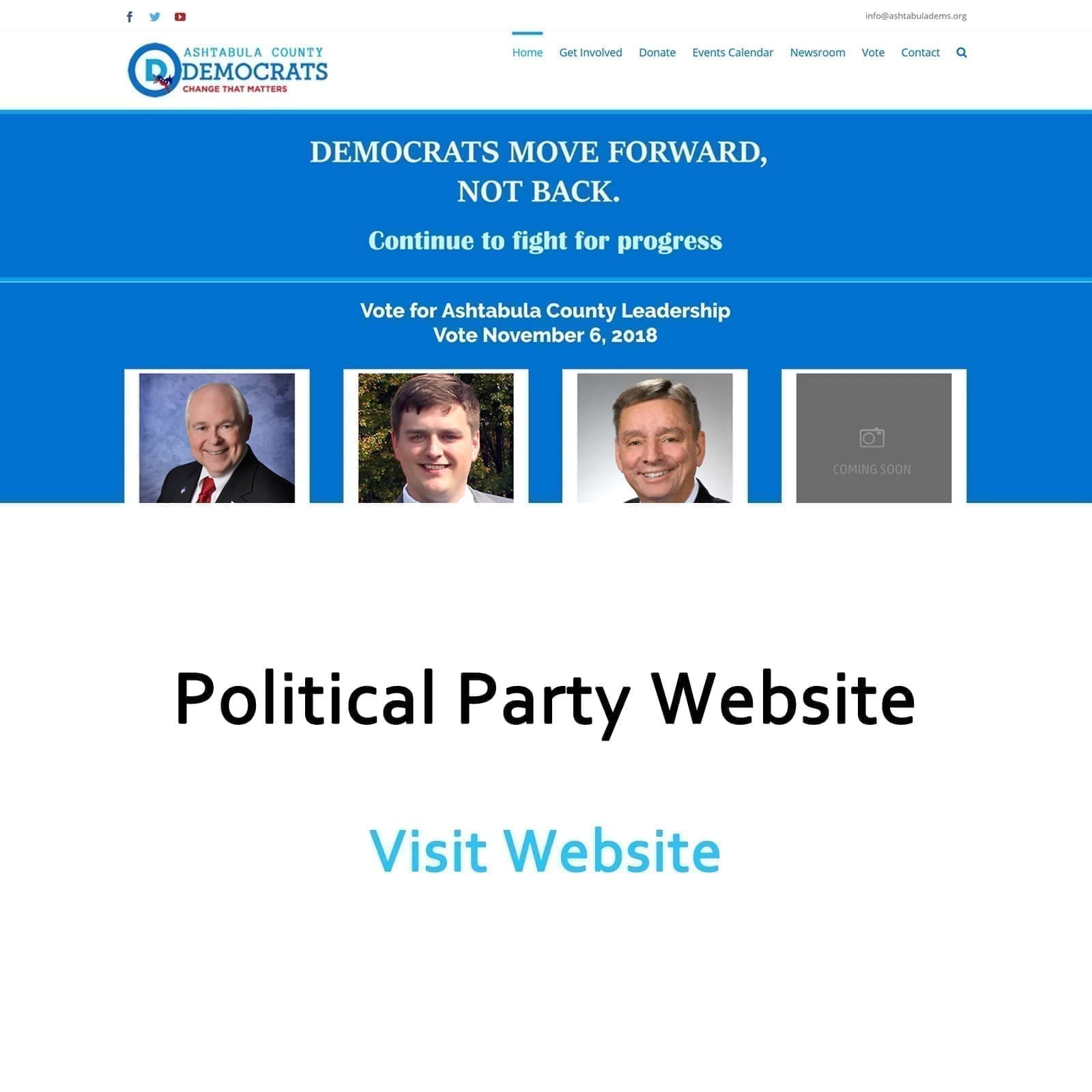Political Party Website
